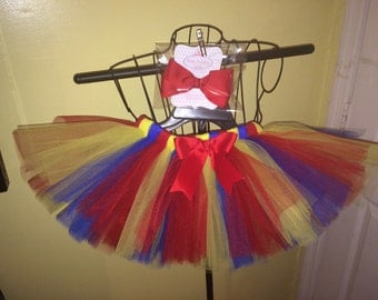 Candy Land Carnival Tutu Skirt and Hair Bow