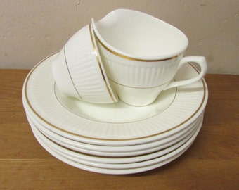 Vintage Wedgwood Insignia metallised bone china dinner set