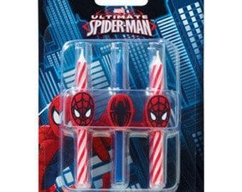 SPIDERMAN ICON Birthday Candles