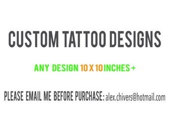 Any Custom 10x10 + Design