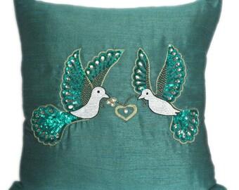 Love Birds Pillow Love Birds Pillow Case Love Birds Pillow Cover Love Birds Shams Love Birds Décor Love Birds Cushion Cover