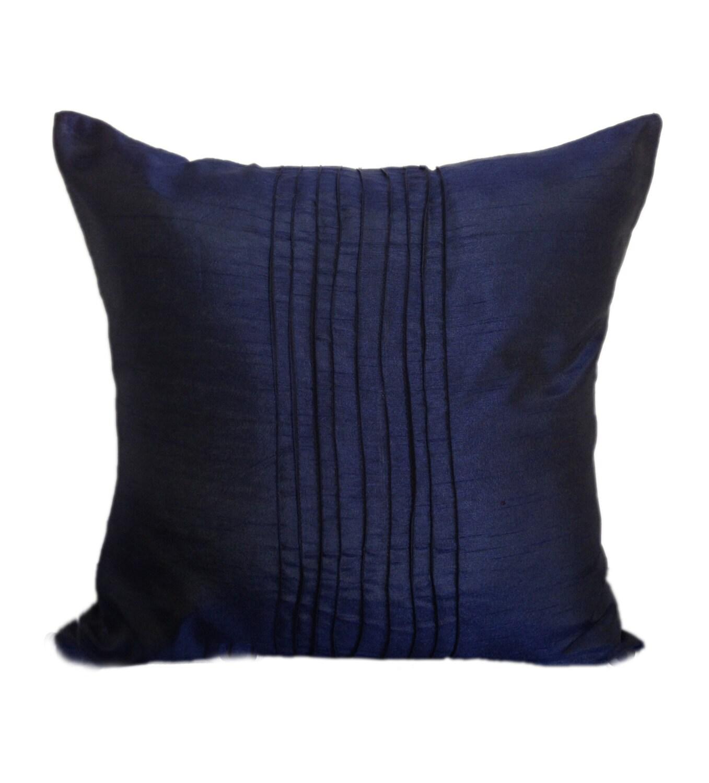 plain dark blue pillow cover plain navy euro sham pin tucks. Black Bedroom Furniture Sets. Home Design Ideas