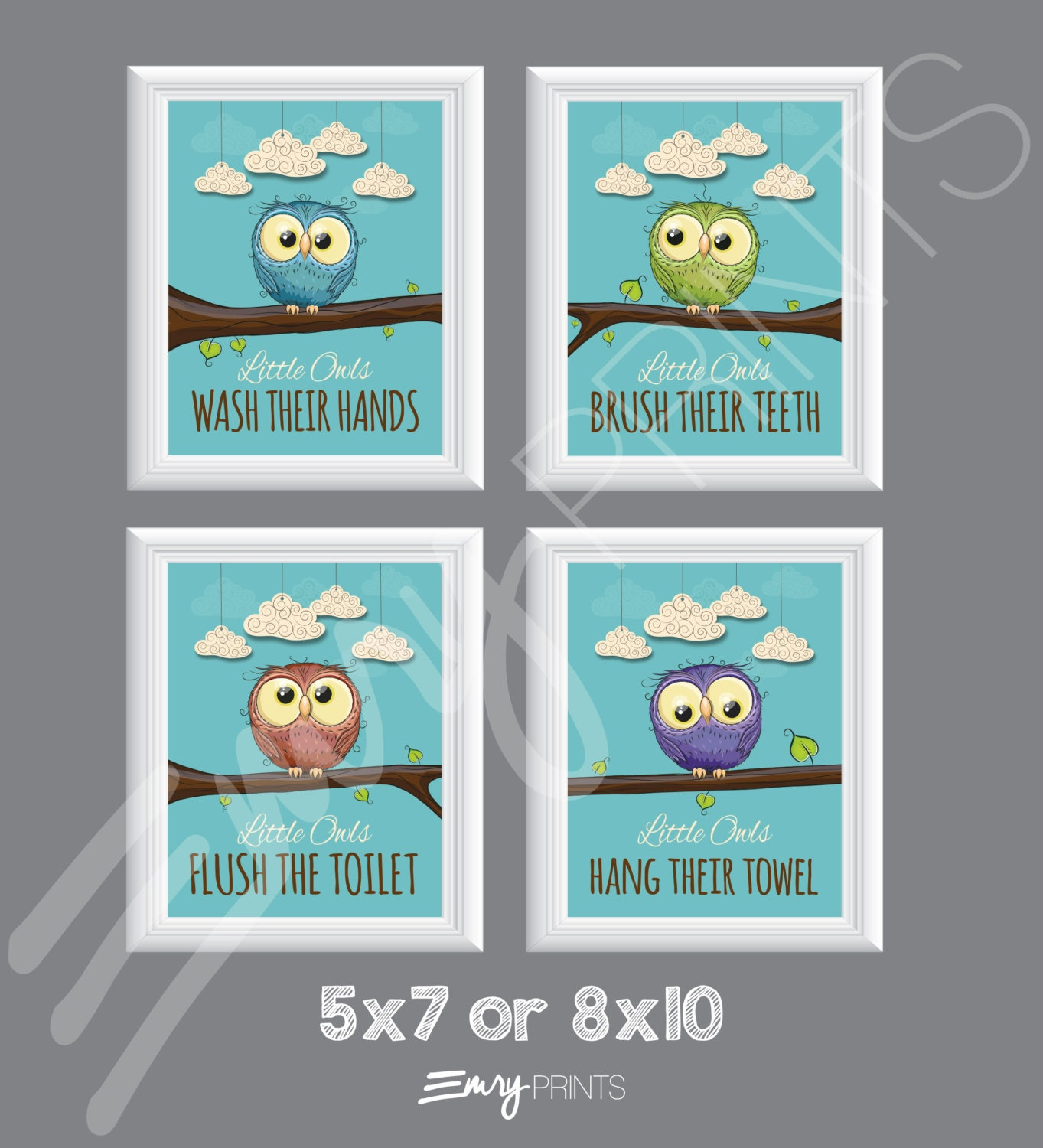 Owl bathroom birds bathroom theme children 39 s bathroom for Bird themed bathroom accessories