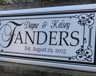 Personalized wedding gift-custom Last name sign-Personalized family name sign-couple name sign-Personalized wedding-wood sign