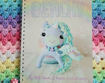 Just Beachy A5 Spiral Bound Notebook, 100 blank pages