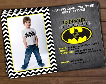 Batman Birthday Invitation - Printable Batman Invitation