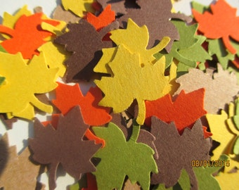 325-Leaf Confetti-maple leaf confetti-paper leaves-fall leaves-Thanksgiving-fall weddings-party decorations-die cuts-leaf punch-small-medium