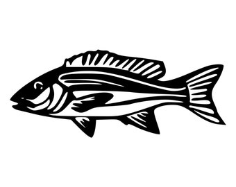 Red Snapper Fish Die-Cut Decal Car Window Wall Bumper Phone Laptop