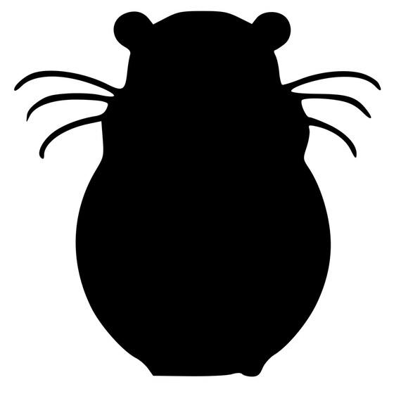 Hamster Silhouette Die Cut Decal Car Window Wall Bumper Phone