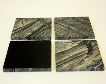 4 inch Zebra Marble Drink Coasters,1 set of four