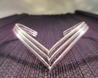 Sterling Silver V Cuff Bracelet