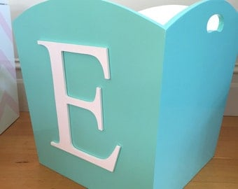 Toy Bin - Letter Toy Bin, Children's Toy Storage, Toy Box, Personalised Toy Box, Contemporary Toy Storage, Wooden Toy Box, Playroom Storage