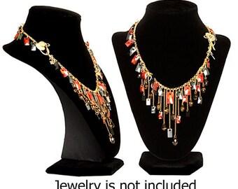 Neckform Necklace Display - Black Velvet