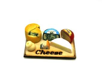Artisan Cheese Selection Display Dolls House Miniature