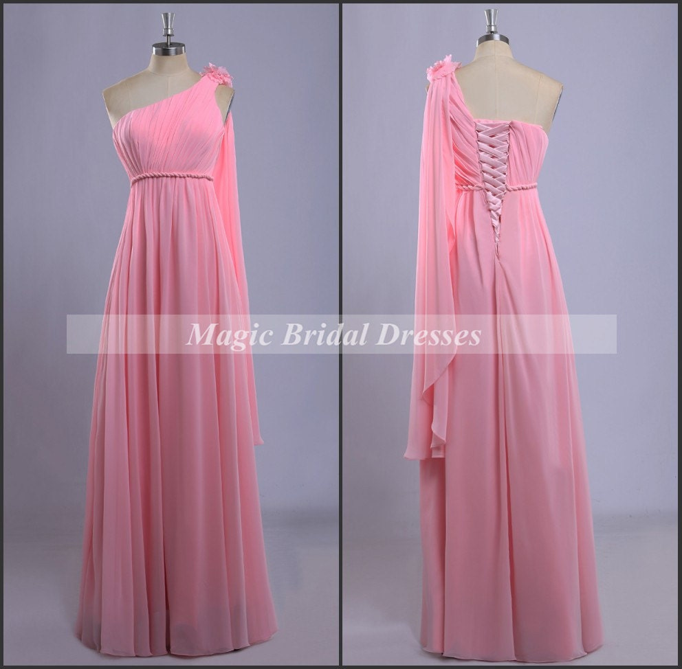 Pink Wedding Dress Dream Meaning : Dreaming dresses for bridesmaid pink chiffon by magicbridaldresses