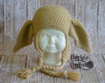 NO CHRISTMAS ORDERS -- Crochet Dobby House Elf Hp Hat -- Best Seller!