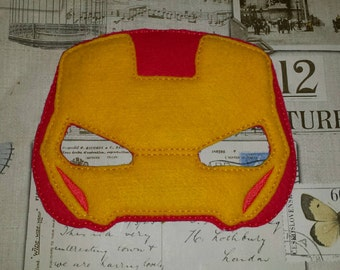 Iron man super hero inspired mask ITH Project In the Hoop Embroidery Design Costume, Cosplay, Fancy dress, Masquerade, Photo booth, Prop.