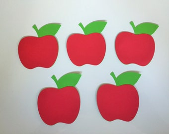 "12 Apple Die Cuts (3.4"" wide) - Teacher Gift Tags - Classroom Decor"
