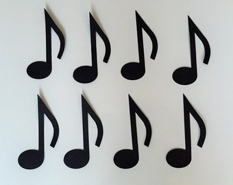 "Music Note Die Cuts (4"" tall) - Music Party Decor"