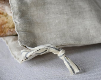Linen Bread Bag, Eco-Friendly, Natural, Re-useable