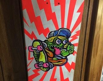 SK8 freak  ( skateboard deck painting )