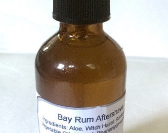 Bay Rum Aftershave, Men's Aftershave, Aloe Aftershave, Vegan Aftershave, Handmade Aftershave