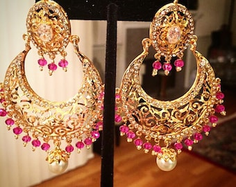 Haydrabadi Chaad Bali Pakistani / Indian Jewelry