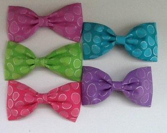 Fabric Hair Bows, Set of 5