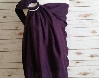 Custom 100% linen (7.1 oz) ring slings.