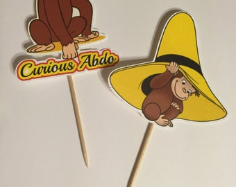 Curious George cupcake toppers (picks)
