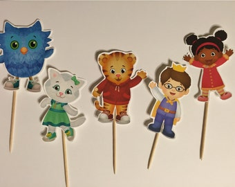 Daniel Tiger Cupcake toppers (picks)