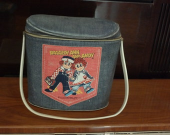 Vintage Raggedy Ann and Andy Brunch Bag Lunch Box