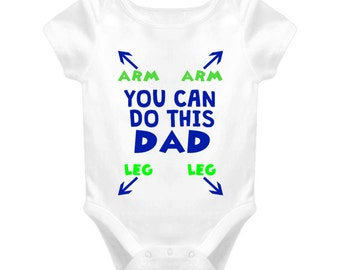 Infant Newborn You Can Do This Dad Baby One Piece, New Dad Gift, Baby Shower gift, New Parent Gift, Gift for Baby, Funny Gift for Baby,