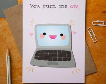 Greeting Card : Computer