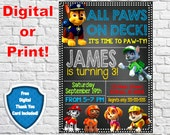 Paw Patrol Invitation, Paw Patrol Birthday Party, Paw Patrol Invite, Paw Patrol, Birthday Invitation, Birthday Invite