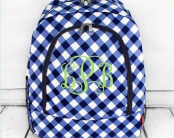 Gingham Large Backpack