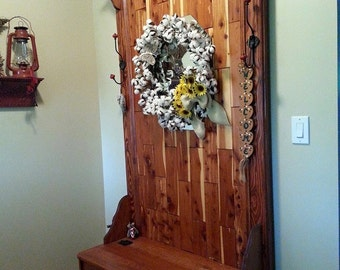 Custom designed cedar back halltree