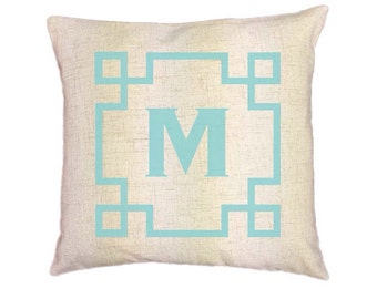 Custom Monogram Pillow Covers (Style: Aztec) 43 color options