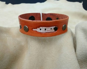 Small studded leather cuff