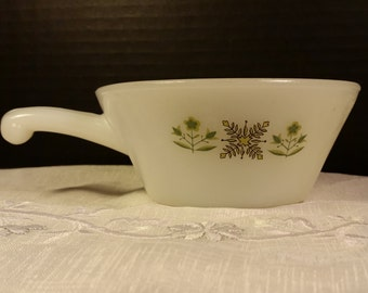 Anchor Hocking Fire King Soup Bowl with Handle Meadow Green Milk Glass Chili/Soup Bowl Ramekin Vintage Anchor Hocking Milk Glass Soup Bowl