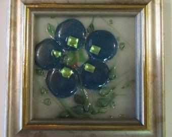 Fused Flower--#42-- Blue