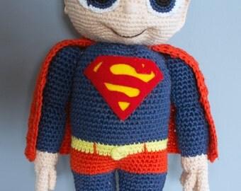 Crocheted Superman