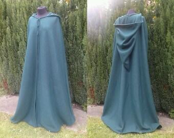 Medieval cloak made from fleece, green