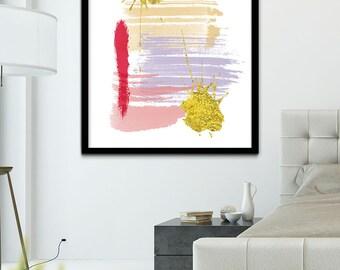 Colorful Contemporary Modern Art, Modern Digital Art, Contemporary Digital Painting, Abstract Digital Printable