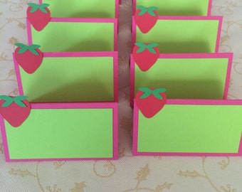 Strawberry Tent Cards