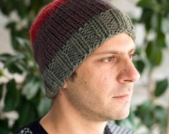 Men hat knit hat men mens beanie slouchy beanie knit beanie crochet beanie hat beanie men slouchy beanie slouchy hat beanie husband gift