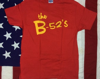 Vintage 1980's Deadstock the B-52's T-Shirt Large/XL Grand Illusion Made in USA Pop Rock Post-Punk New Wave Concert Tee
