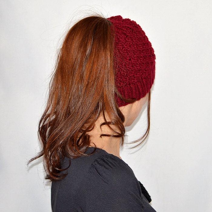 Ponytail Hat Pattern Ponytail Hats Women Knit Hat