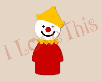 Vintage Fisher Price Little People Clown vinyl decal
