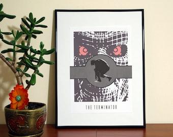 The Terminator Minimalist Movie Art. Arnold Schwarzenegger